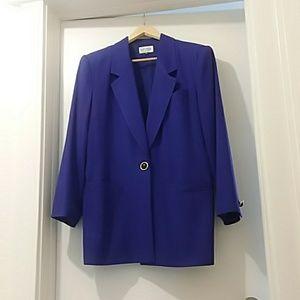 KASPER FOR A.S.L. blazer deep purple size 14